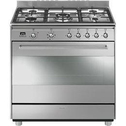 """תנור משולב כיריים 90 ס""""מ SMEG SSA91"""