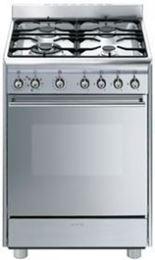 """תנור משולב כיריים 60 ס""""מ SMEG SSA60MX9 נירוסטה"""